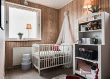 String lights add glitter to the charming and small Scandinavian style nursery 217x155 Trendy Ideas for a Picture Perfect, Dreamy Nursery