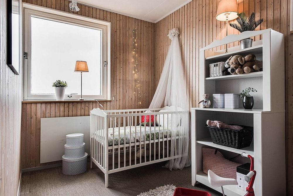 String-lights-add-glitter-to-the-charming-and-small-Scandinavian-style-nursery