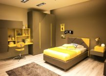 Stylish-kids-room-in-yellow-and-brown-217x155