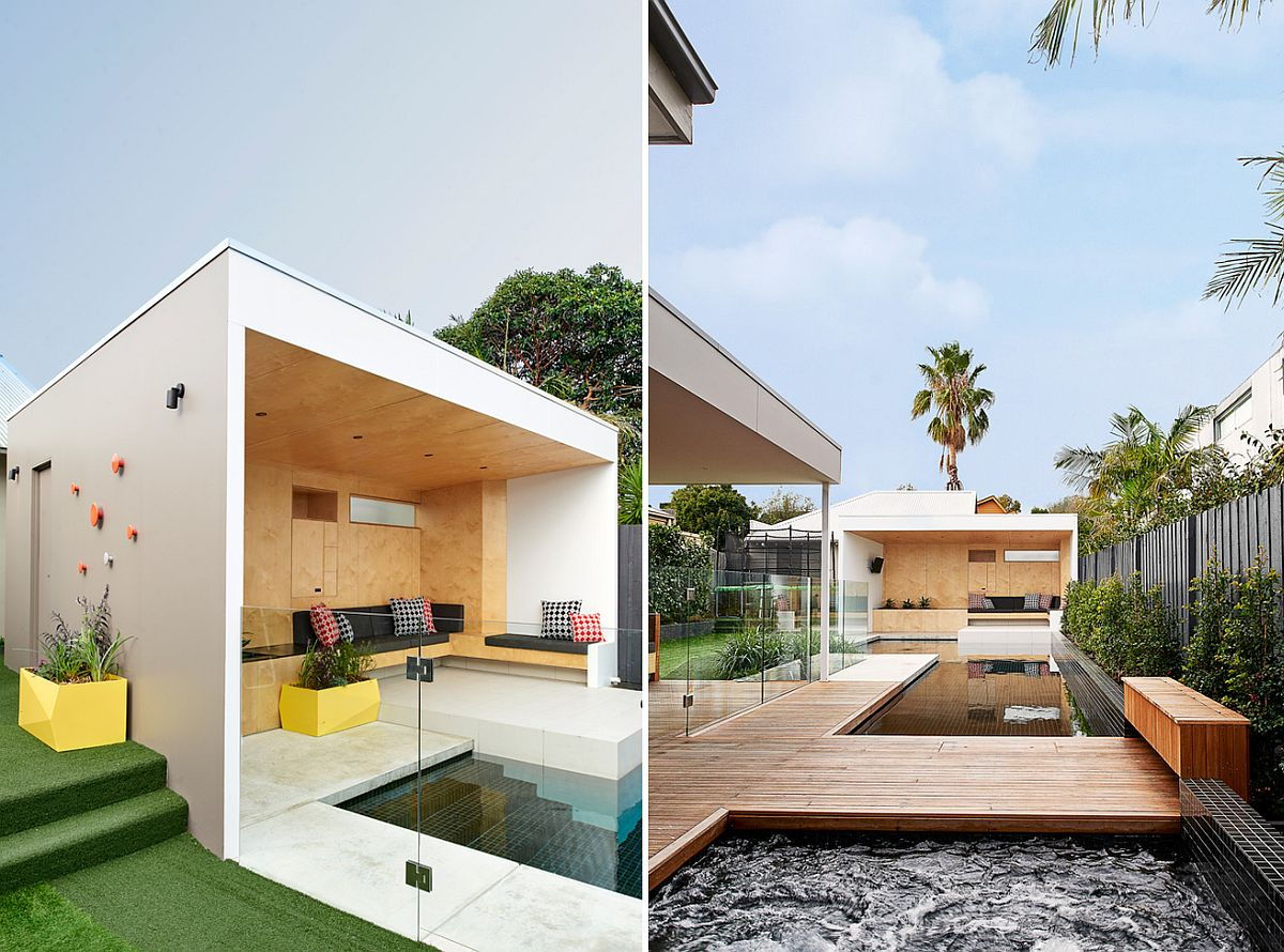 brighton bunker this plywood clad poolside hangout does it all