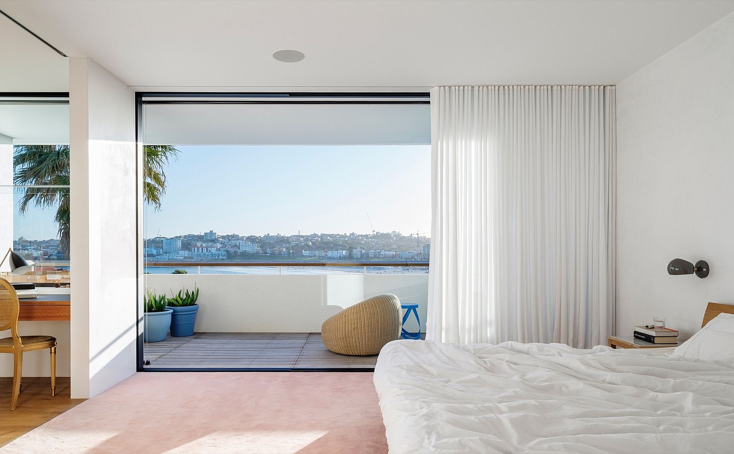 Top level bedroom of the beach house