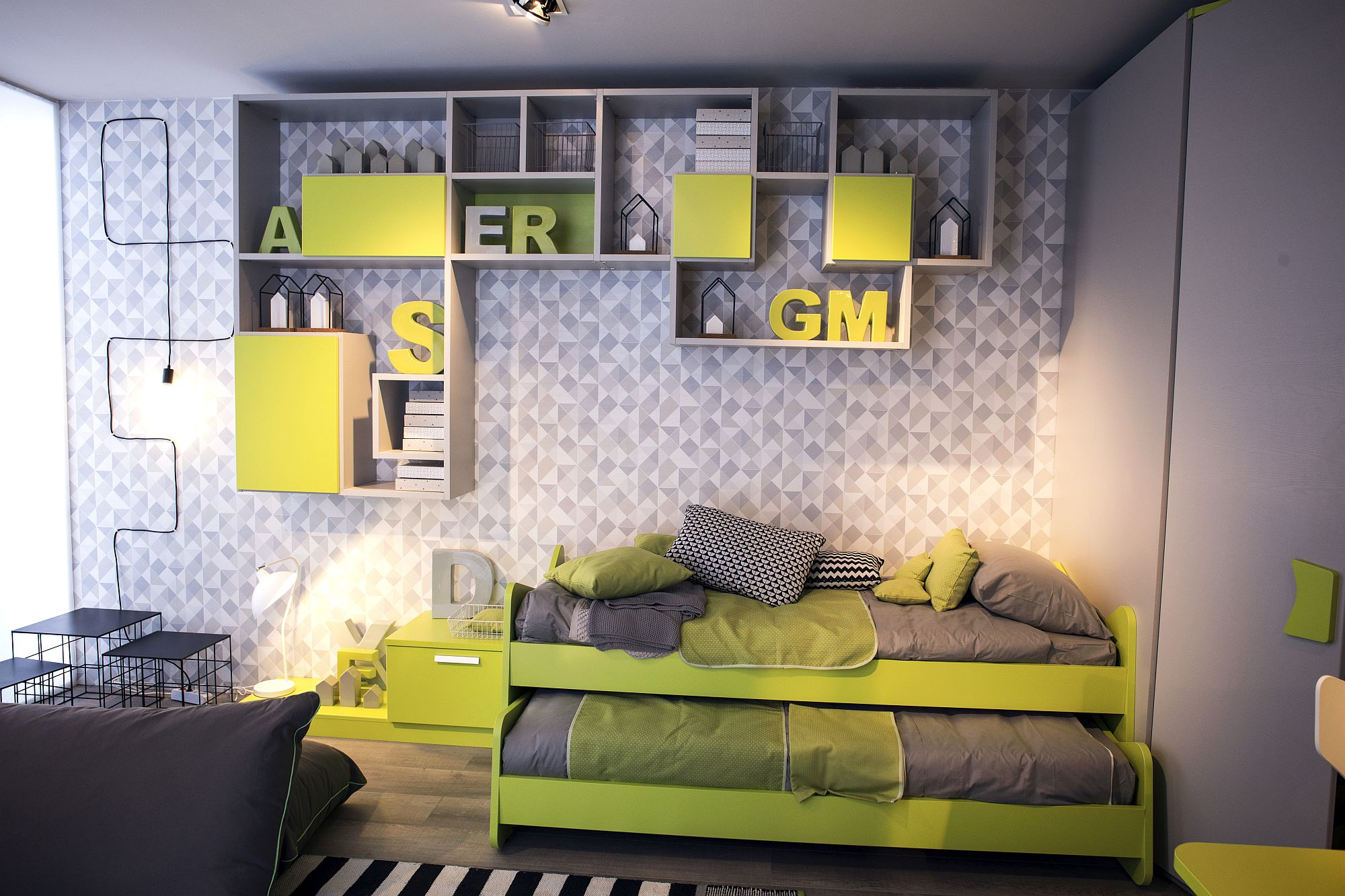 Touch-of-yellow-for-the-gray-kids-bedroom