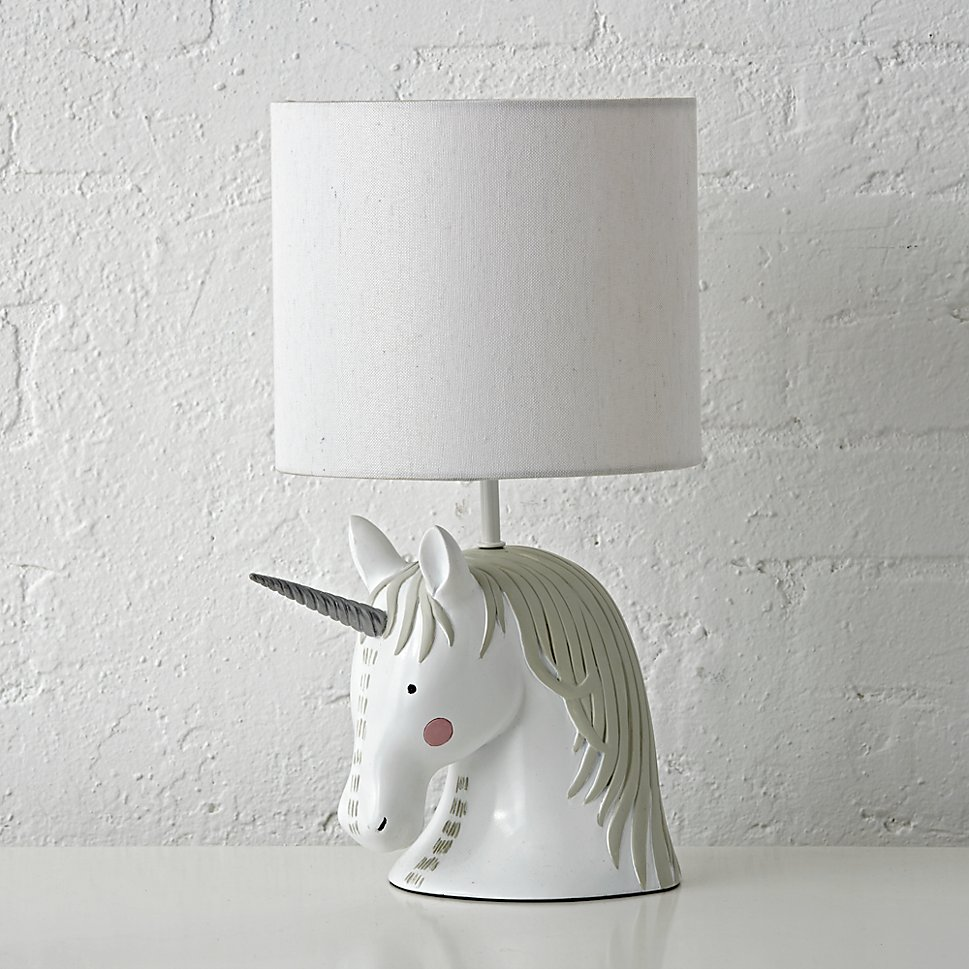 Unicorn lamp from The Land of Nod