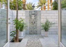 Vast outdoor shower with an outdoorsy twist on a classic bathroom concept 217x155 Epitome of Luxury: 30 Refreshing Outdoor Showers