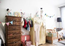 Vintage-kids-room-with-contrasting-wooden-cupboards-217x155