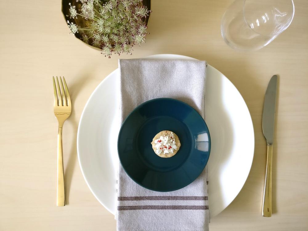 Warm-toned table setting