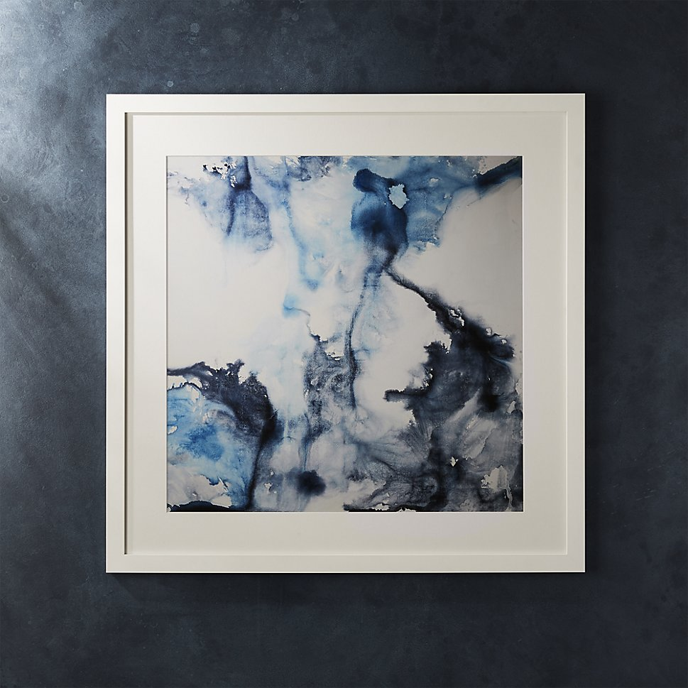 Watercolor art in shades of blue