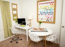 White-home-office-with-stunning-framed-gold-wall-art-217x155