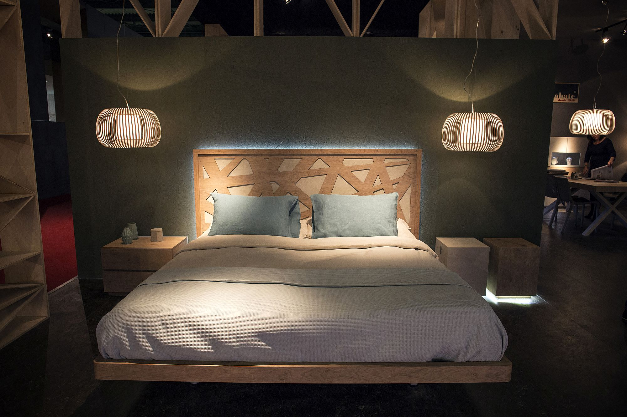 Wooden frame gives the bed a modern, yet natural vibe