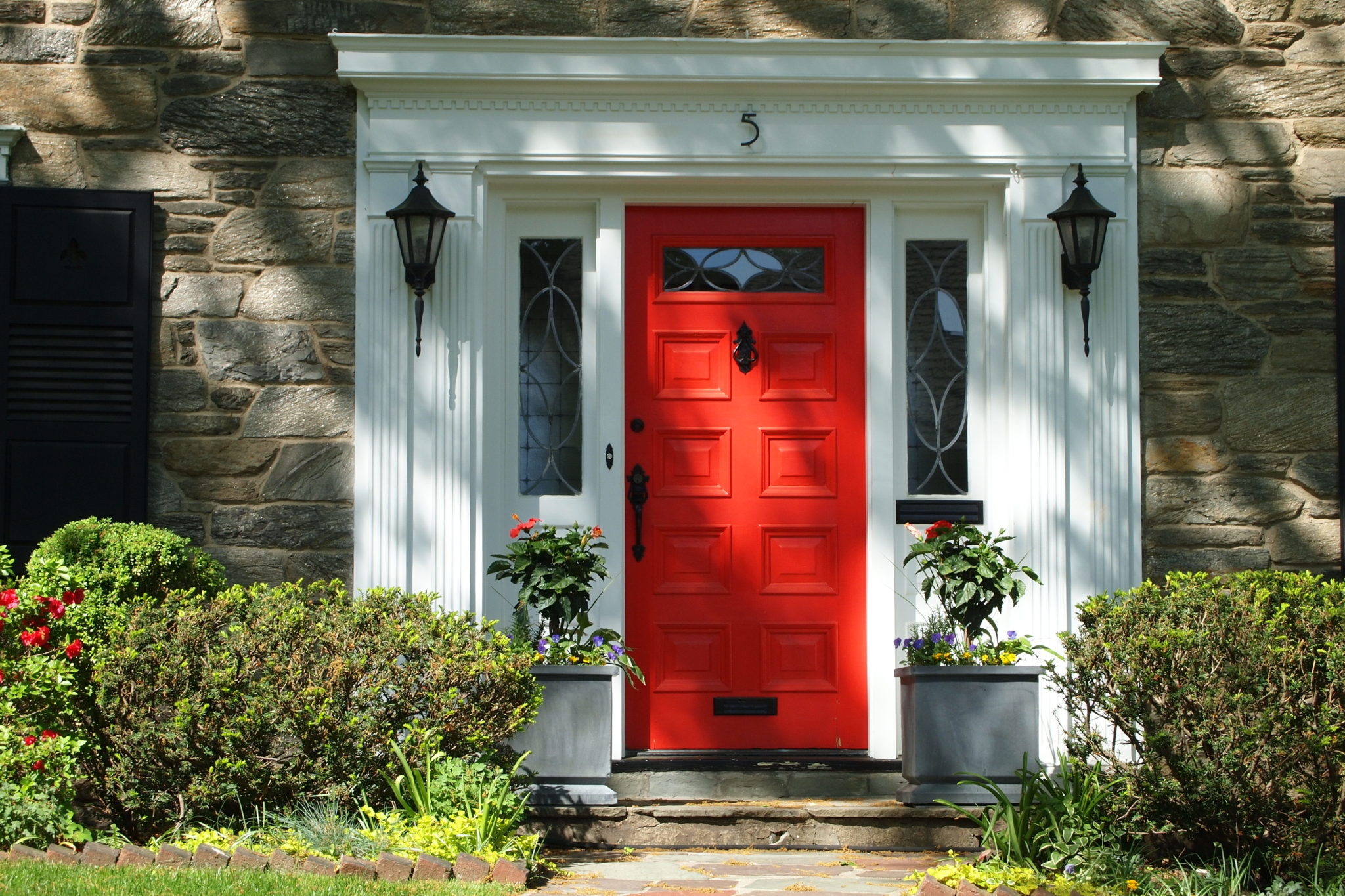 Front Door Red creating a charming entryway with red front doors
