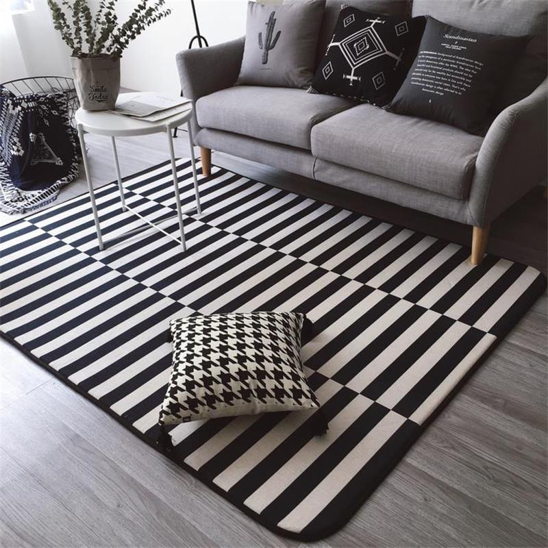Monochrome Elegance 30 Black And White Striped Rugs