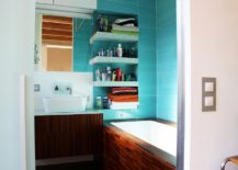 A-small-bathroom-with-a-turquoise-interior--217x155