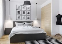 Bedroom-with-a-simple-decor-and-a-dynamic-monochrome-rug-217x155