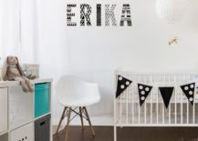 Black-and-white-nursery-decorated-with-lovely-patterned-letters-217x155