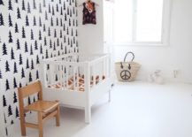 Black-and-white-nursery-with-a-few-subtle-wooden-decor-elements-217x155
