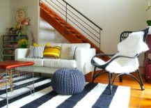 Black-and-white-striped-rug-in-a-cheerful-and-warm-living-room-217x155