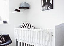 Black-decor-elements-balance-the-white-interior-in-this-monochrome-nursery-217x155