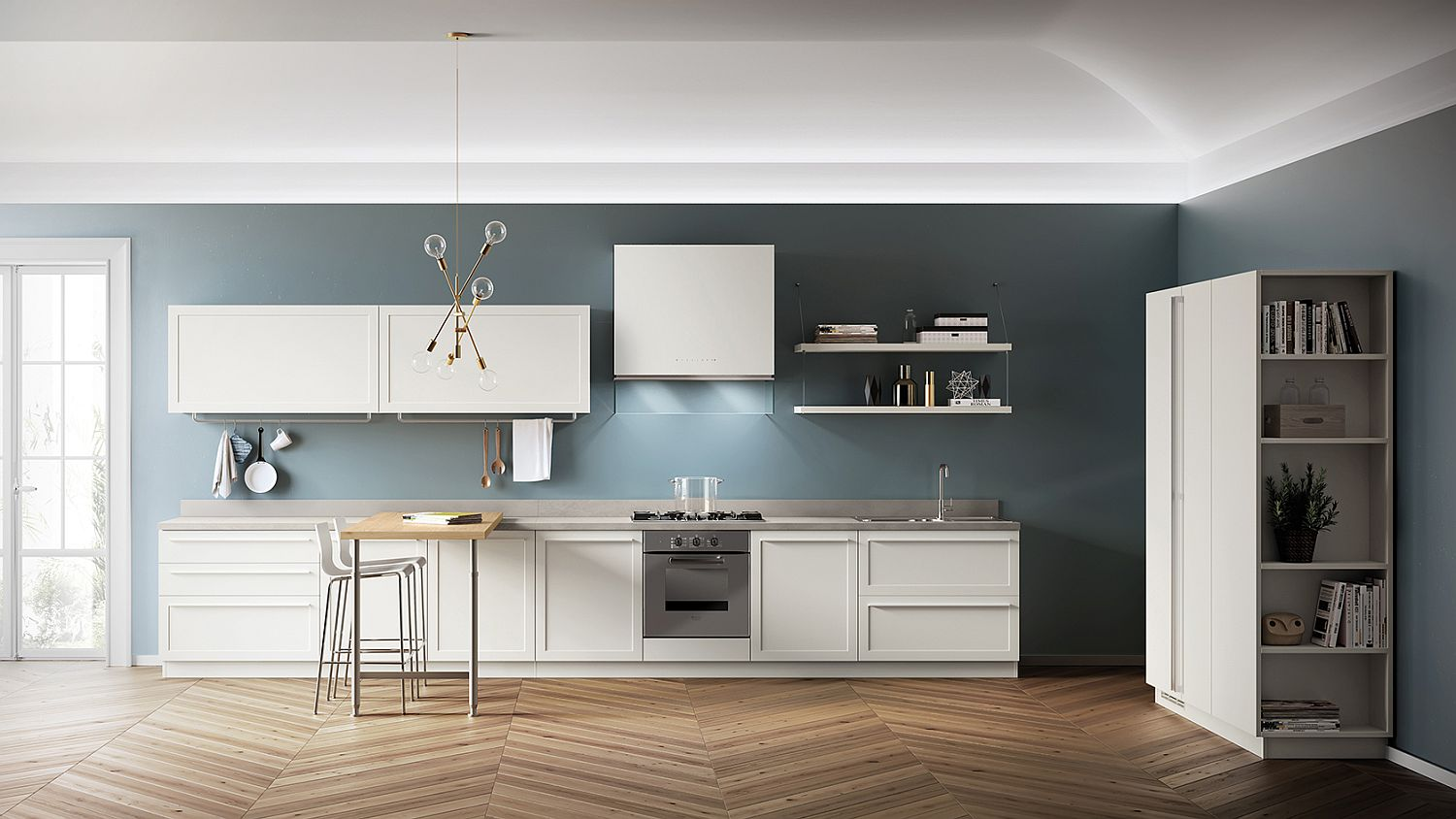 Carattere: Classical-Contemporary Kitchen Blends Sophistication with Ease