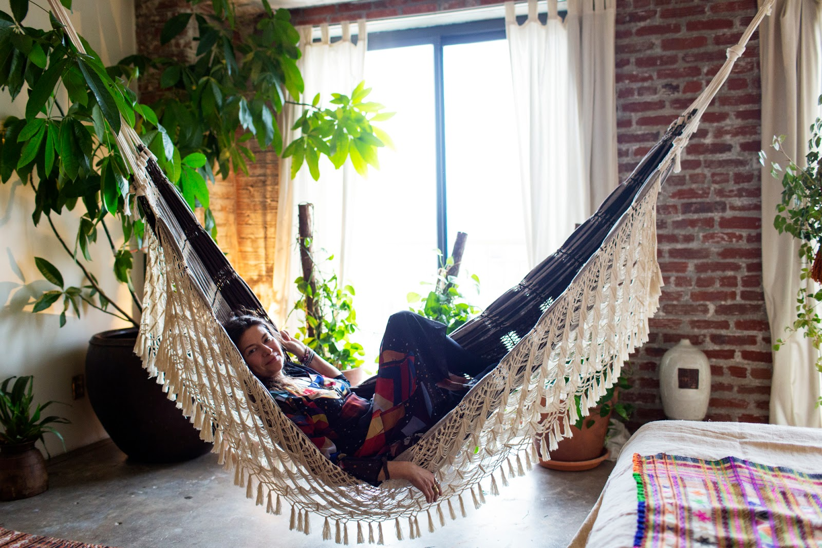Bohemian-hammock-that-represents-comfort-