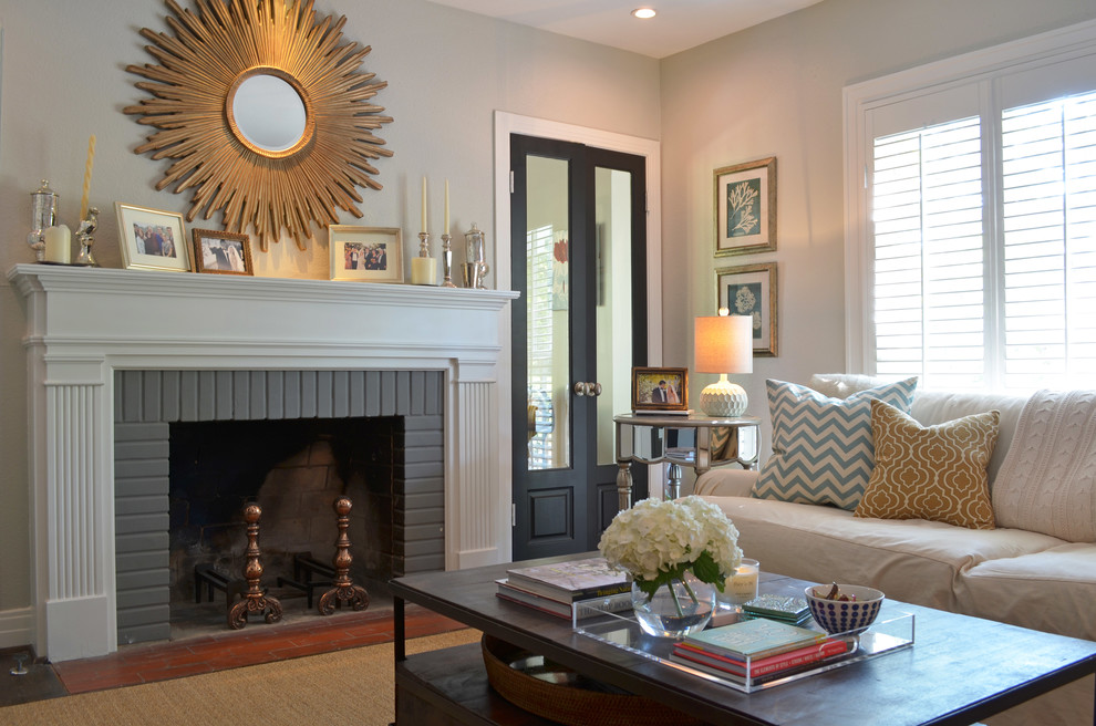 Captivating sunburst mirror in an ordinary living room