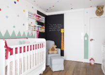 Chalkboard-wall-for-the-modern-nursery-with-colorful-wall-decals-217x155