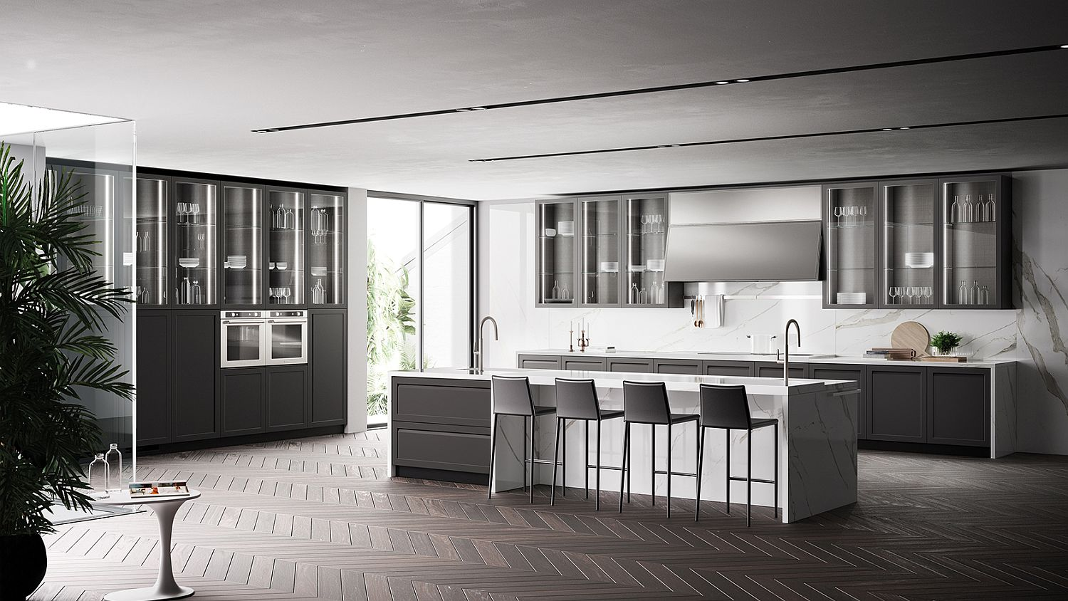 Carattere ClassicalContemporary Kitchen Blends Sophistication