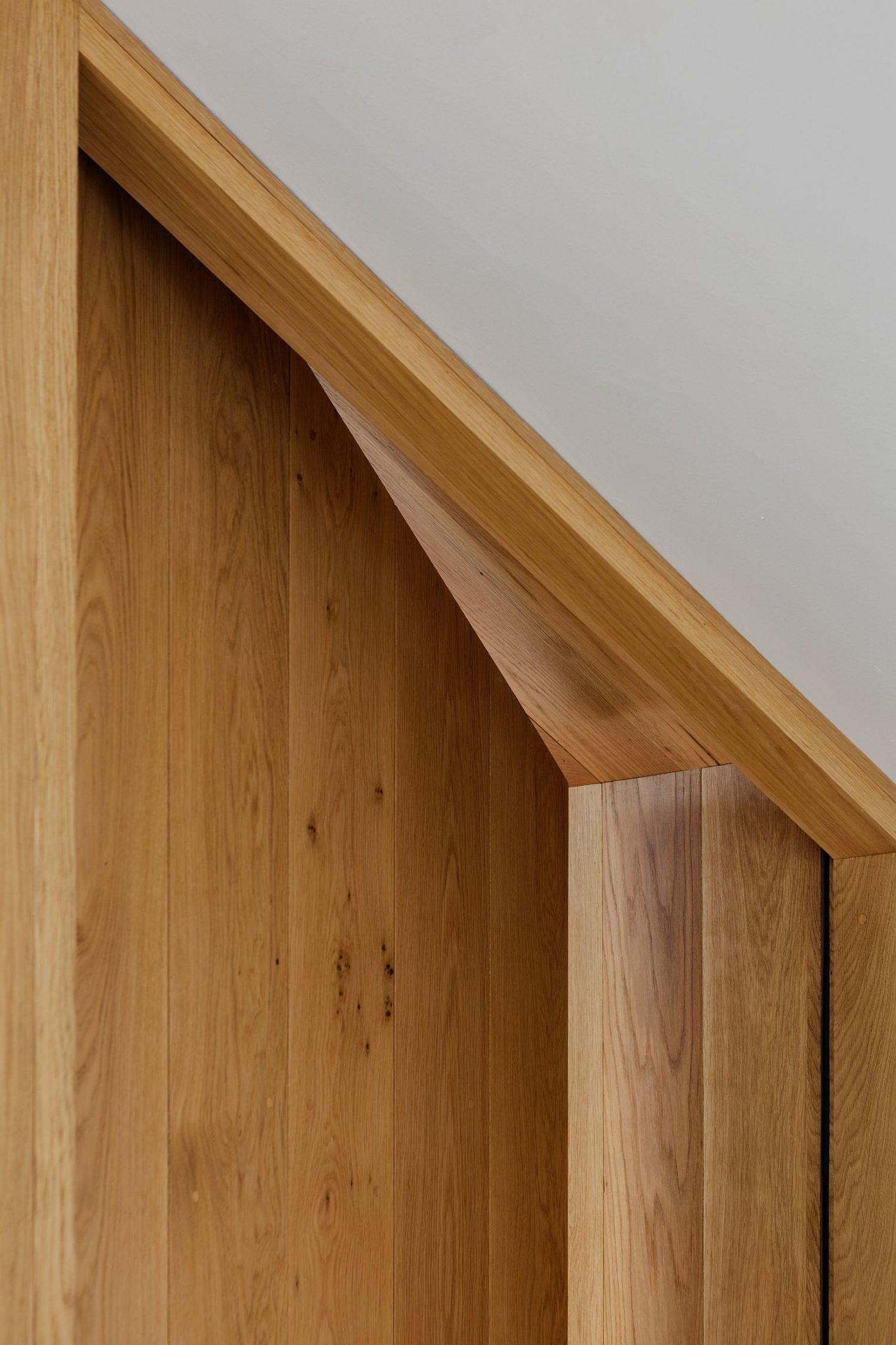 Closer look at the wood used for the contemporary extension