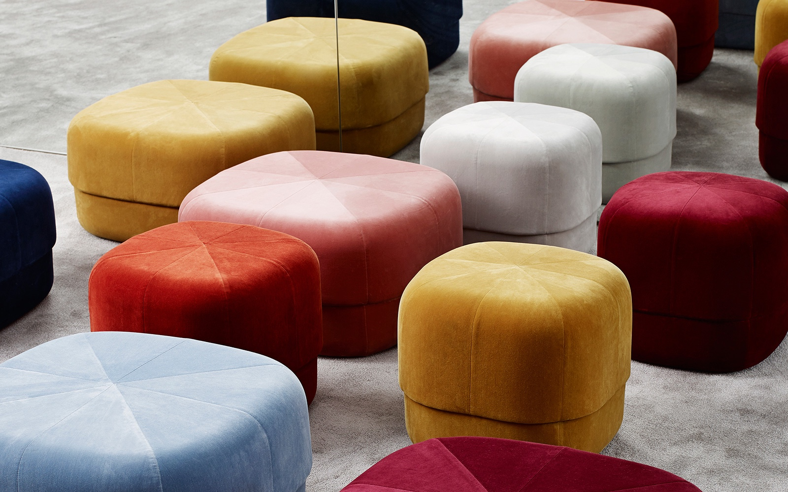 Colourful Circus Poufs