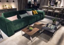 Comfy couch in bold green from Loyra Time 217x155 Seasonal Finds: Trendy Sofas and Sectionals that Captivate with Color