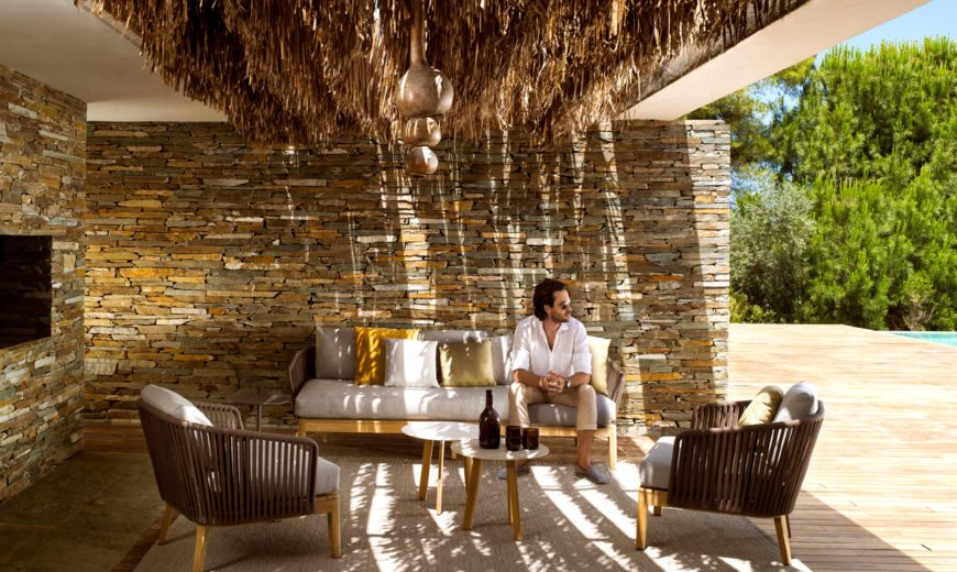 In the Right Mood: Weather-Resistant Outdoor Décor in Teak and Handwoven Tricord