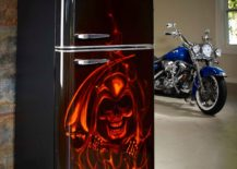 Custom-air-brushed-fridge-with-airbrushed-flames-and-skulls-217x155