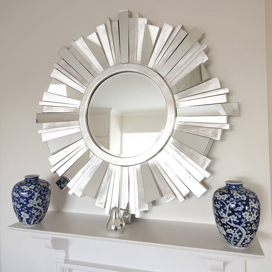elegant mirrors living room.  30 Exceptional Ideas for Decorating with a Sunburst Mirror