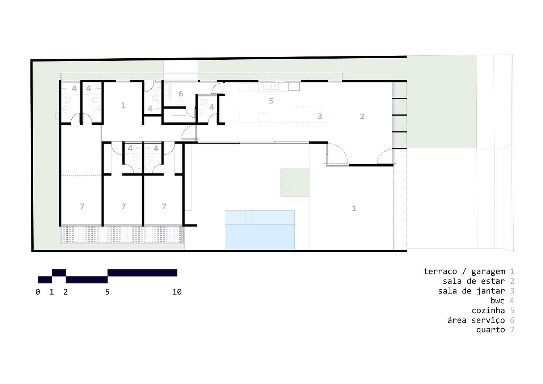 Floor plan of the Cuiabá House in Brazil