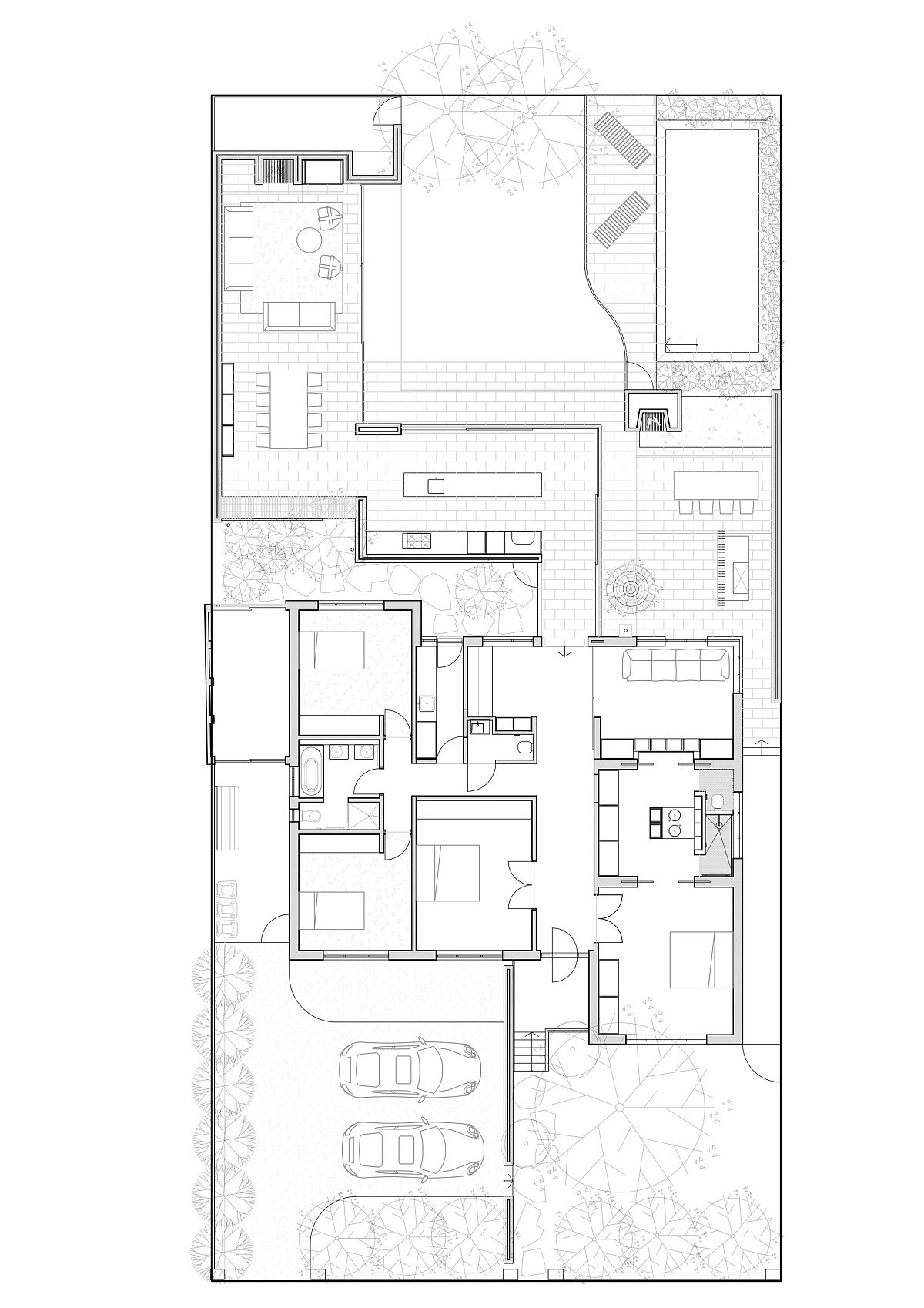 Floor plan of the extended Melbourne home