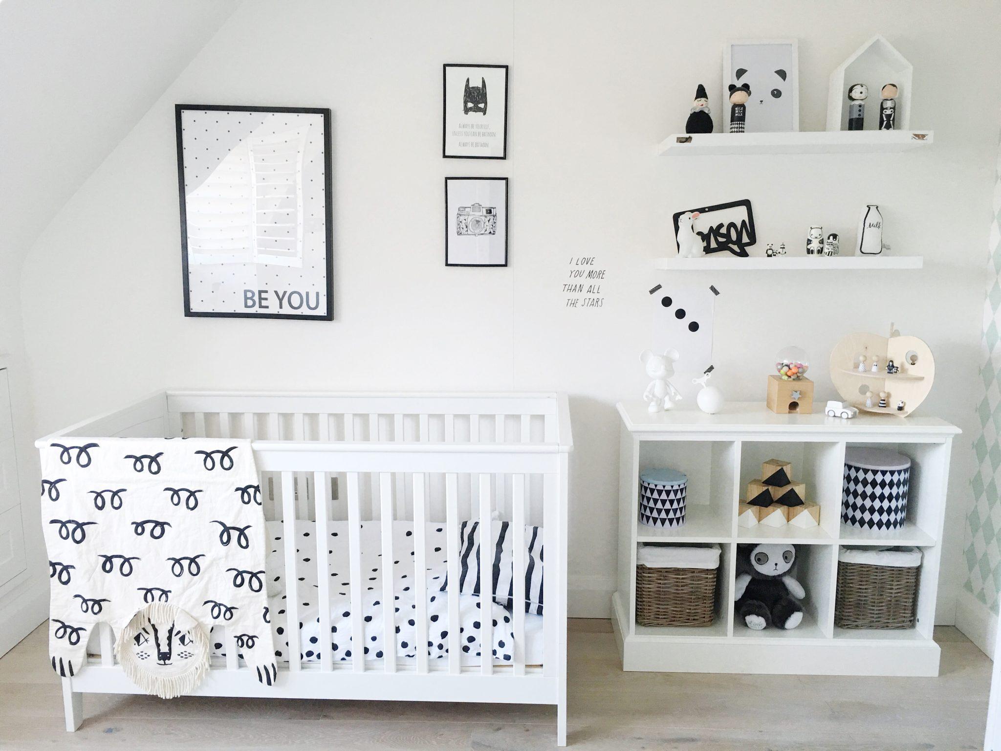 Gender neutral monochrome nursery