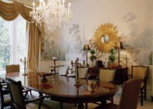 Golden-sunburst-mirror-enhances-the-luxury-of-the-dining-room-217x155