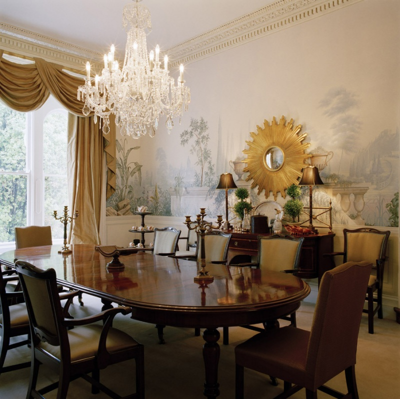 30 exceptional ideas for decorating with a sunburst mirror for Dining room mirror decorating ideas