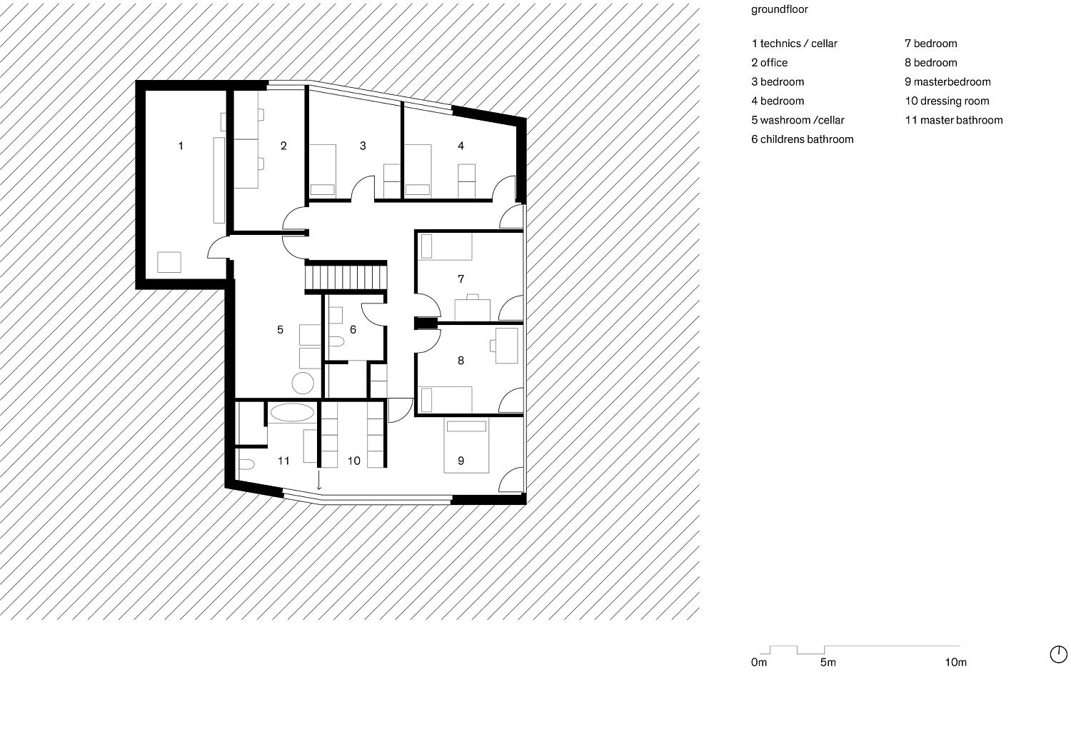 Swiss delight modern single family house in concrete and wood for Single family house plans