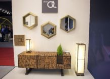 Hexagonal mirror frame is a smart and trendy choice 217x155 Reflecting your Style: 25 Trendy Mirrors that Dazzle and Delight