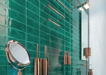 Incredibly-glamorous-gold-and-turquoise-bathroom--217x155