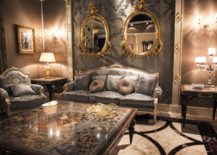 Innovative-living-room-with-Victorian-style-in-gray-and-gold-217x155