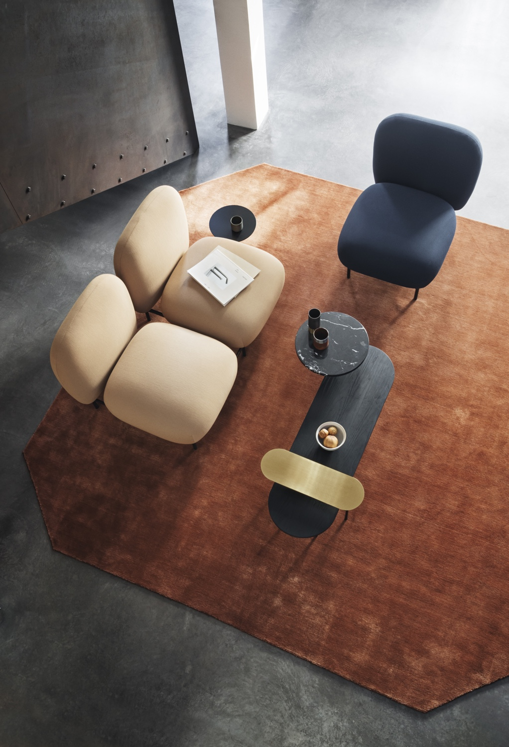 Isole NN1 sofa and chair without arms
