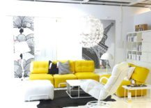 Living-room-with-a-contrast-between-yellow-sofas-and-white-background--217x155
