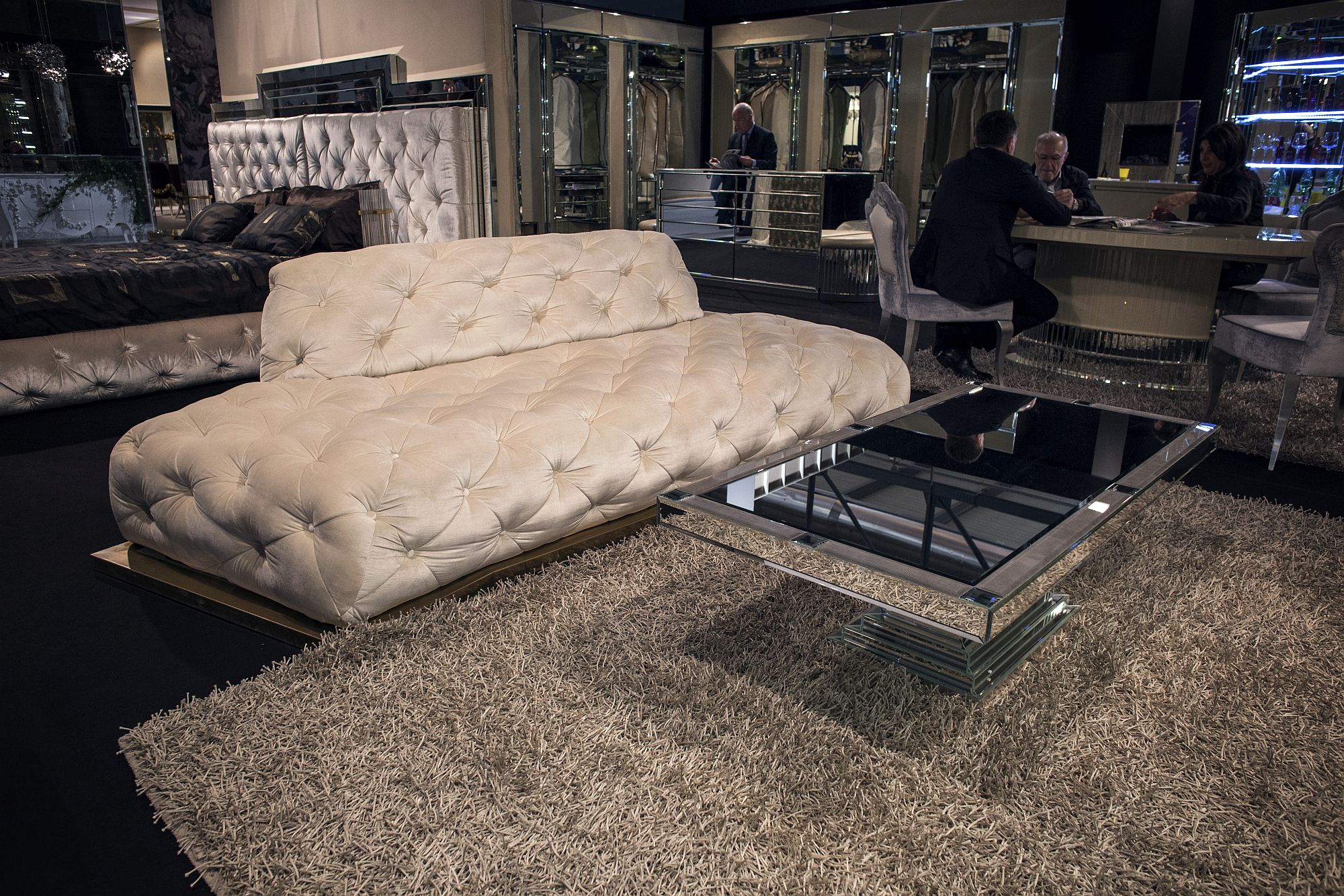 Luxurious tufted sofa from MP2 ROMA