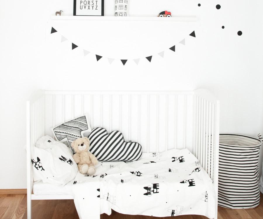 Minimalist black and white nursery