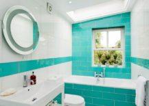 Modern-bathroom-in-vibrant-turquoise-hues-217x155
