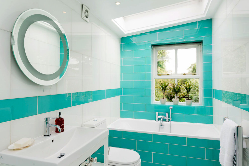 Turquoise bathrooms timeless and captivating interior for Aqua colored bathroom accessories