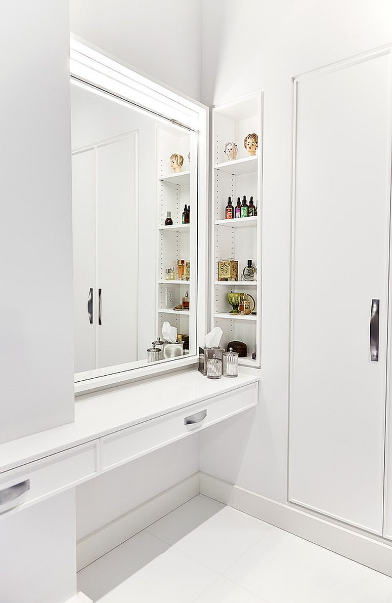 Modern-bathroom-in-white-with-nifty-shelving