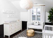 Monchrome-nursery-with-a-shiny-golden-ottoman--217x155