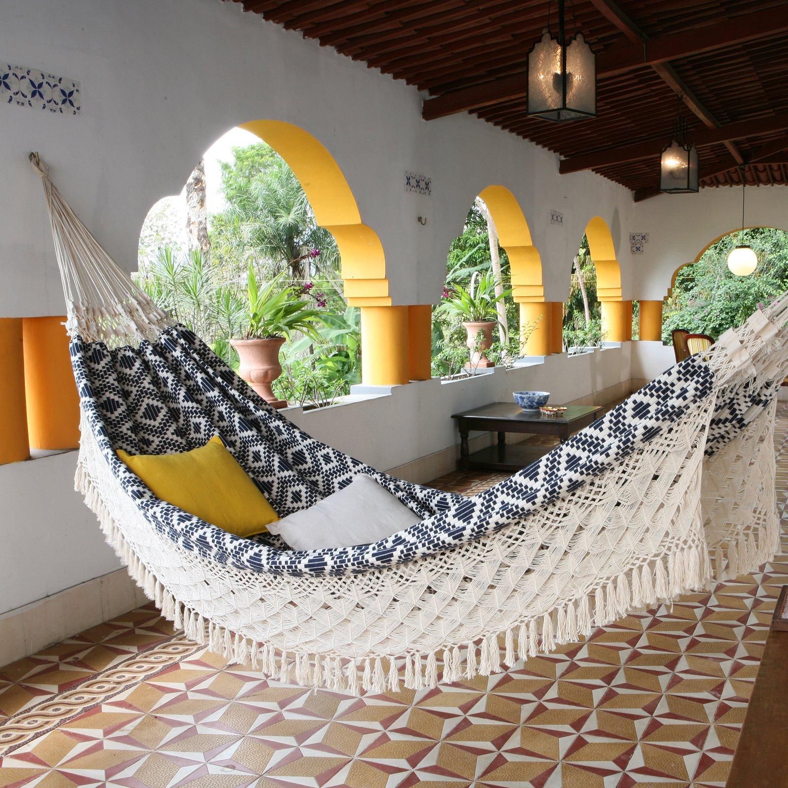 Monochrome-bohemian-hammock-
